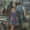 Frau, Männer, Hunde, 2011, 80 x 100 cm, Acryl auf Baumwolle.jpg