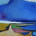 Blä swark (Blaue Wolke), 2016, 100 x 120 cm