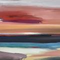 bruket lundskaft (farbige Landschaft), 2017, 70 x 100 cm