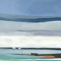 buaten (Boote), 2017, 90 x 80 cm