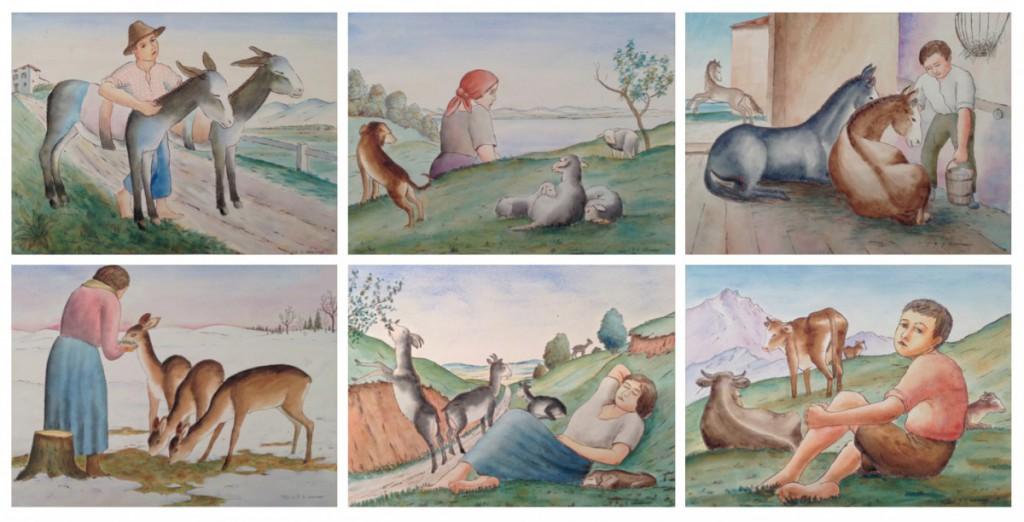 Georg Schrimpf, Menschen und Tiere