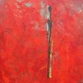 Figur mit gelb in rotem Umfeld, 2005, Eitempera auf Leinwand,75x80cm .jpg