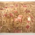 Bargheer_Blankenese, 1974_Farbradierung, Kaltnadel und Aquatinta auf Bütten_signiert, datiert
