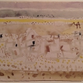 Bargheer_Kamele in der Wüste_1962_Aquarell auf Bütten_signiert, datiert