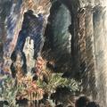 Bargheer_Notre Dame Interieur, 1927_Aquarell_signiert, datiert, rücks. betitelt