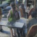 Vor dem Café, 2010, 65 x 70 cm, Acryl auf Baumwolle .jpg