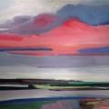 injem auer weeder (Abend über Wasser), 2016, 80 x 120 cm