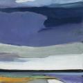 lundskaaft mä swarken (Landschaft mit Wolken), 2017, 80 x 65 cm