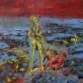 Model im Wasser, 2007, Öl auf Leinwand, 25x30cm.jpg