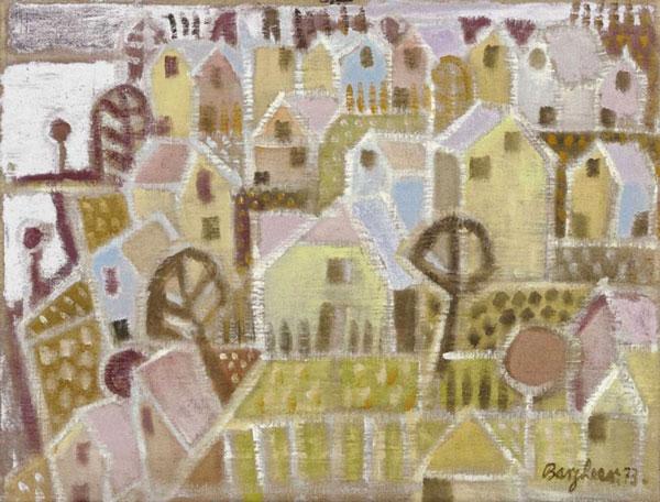 """Eduard Bargheer, """"Blankenese"""", 1973, Öl auf Leinwand, 45 x 60 cm, signiert, datiert, betitelt, P. a. A."""