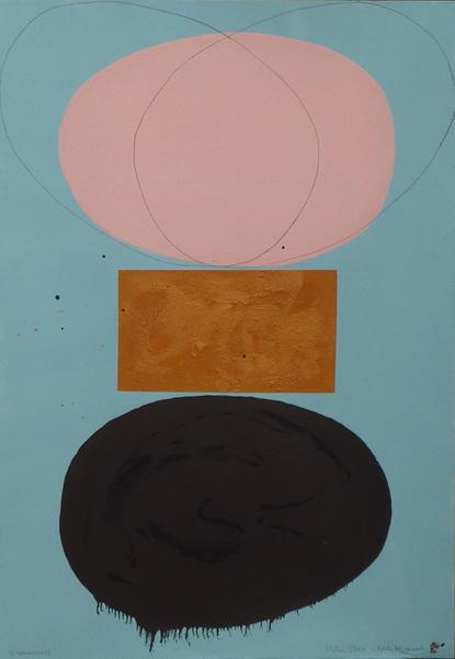 """Phelan O'Hara, """"Baumentwurf nach Elzmann"""", 2012, Mischtechnik, 100 x 70 cm"""