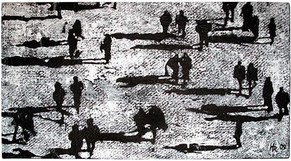"""""""Im Watt"""", 2013, Mischtechnik, ca. 50 x 90 cm"""