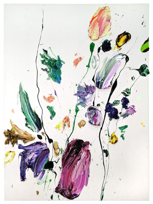 """Jochen Schambeck, """"Lay Out (183)"""", 2013, Öl auf Holz, 172 x 126 x 5 cm"""