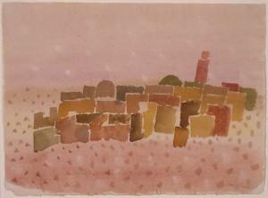 """""""Oase"""", 1969 Aquarell, ca. 32 x 41 cm, signiert, datiert, P. a. A."""