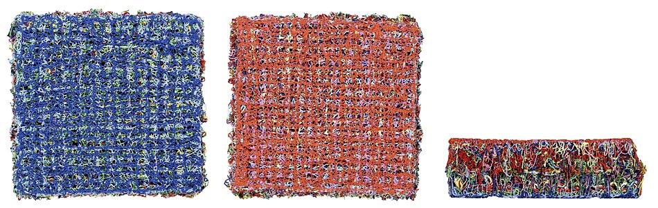 Susanne Lyner, Objekt 2006_04, Acryl, 16 x 16 x 4,9 cm, Ansicht A + B und Seitenansicht
