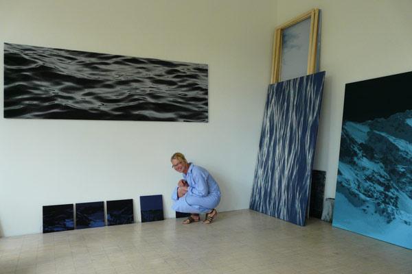 Viola Stohwasser-Gerdsen im Atelier von Sonja Weber in München