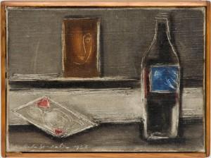 """Roberta Gonzales (1909-Paris-1976) """"La Dame de Coeur"""", 1953 Öl auf Leinwand 16 x 22 cm signiert, datiert aus der Sammlung Alfred Hentzen, Hamburg"""