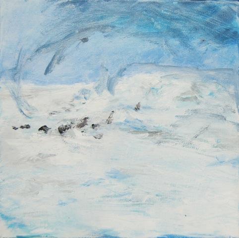 """""""Verlorene Crew, Antarktis"""", 2015, Öl auf Leinwand, 30 x 30 cm"""