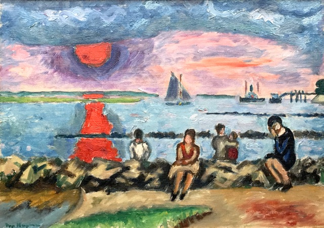 "Ivo Hauptmann (1886-1973) ""Elbe"", 1920er Jahre, Öl/Leinwand, ca. 35 x 47 cm, signiert u. links"